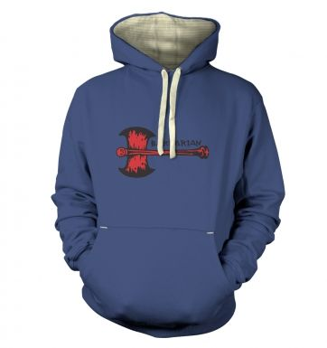 Red Barbarian Axe  hoodie (premium)