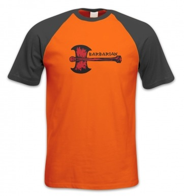 Red Barbarian Axe short-sleeved baseball t-shirt