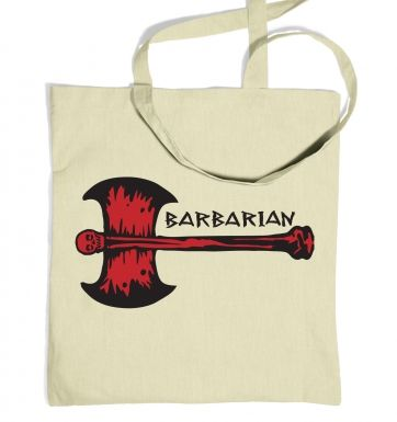 Red Barbarian Axe tote bag