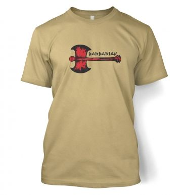 Red Barbarian Axe men's t-shirt