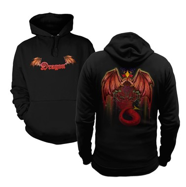 Red Dragon (Front and Back) hoodie