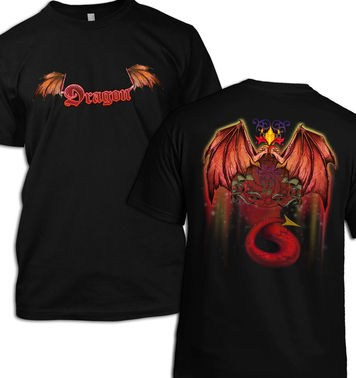 Red Dragon (Front and Back) t-shirt