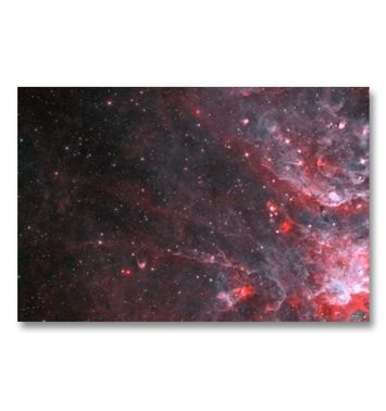 Red Nebula gaming mat