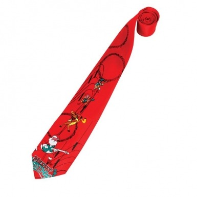 Red Novelty Christmas tie (musical)