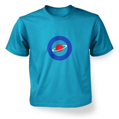 Red Saturn Blue Circle kids' t-shirt