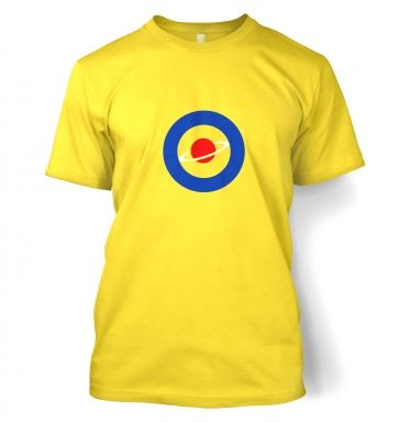Red Saturn Blue Circle t-shirt