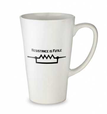 Resistance Is Futile (US) tall latte mug