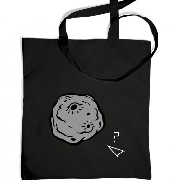 Retro 2D Arcade Spaceship v Real 3D Asteroid tote bag