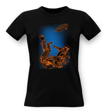 Retro Comic Astronauts classic women's t-shirt