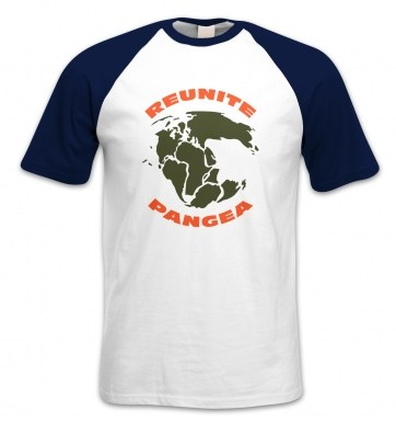 Reunite Pangea short-sleeved baseball t-shirt
