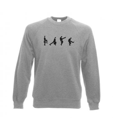 Row Of Silly Walks crewneck sweatshirt