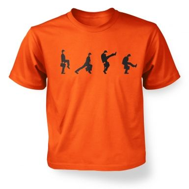 Row Of Silly Walks kids\' t-shirt