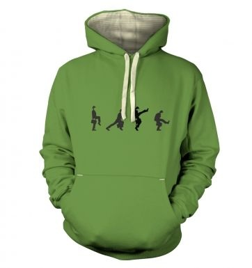 Row Of Silly Walks premium hoodie