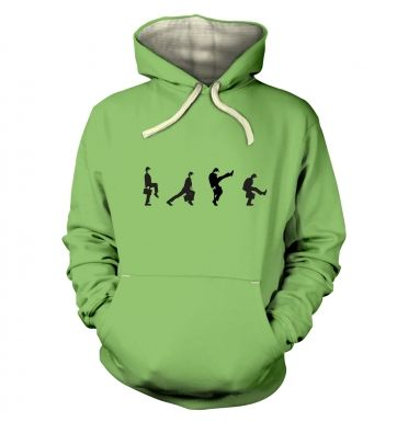 Row Of Silly Walks  hoodie (premium)