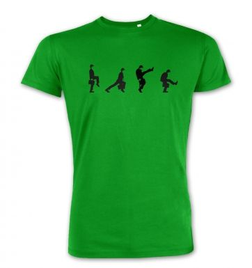 Row Of Silly Walks  premium t-shirt