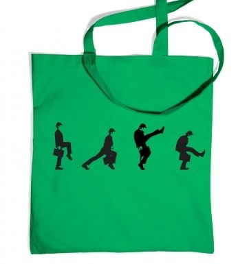 Row Of Silly Walks tote bag