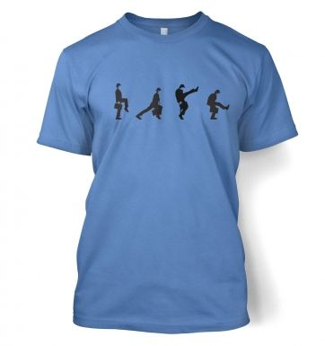 Row Of Silly Walks men's t-shirt