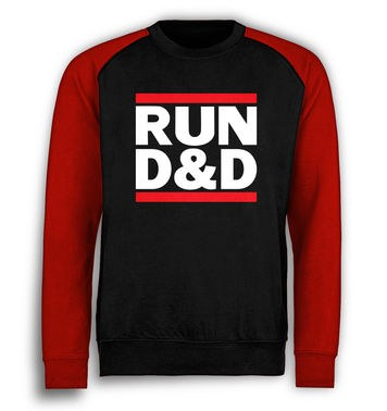RUN D&D baseball sweatshirt