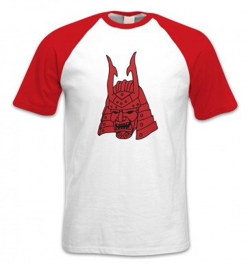 Samurai Helmet Japanese short-sleeved baseball t-shirt