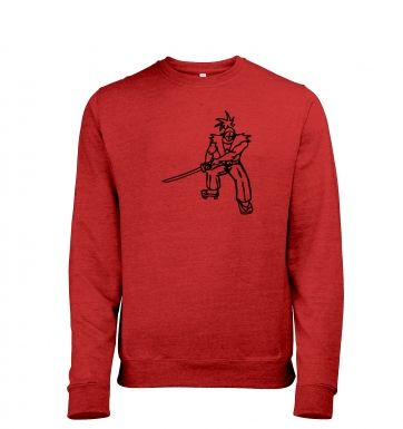Samurai Ronin Japanese Mens Heather Sweatshirt