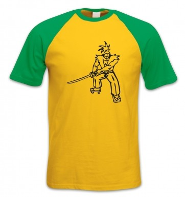 Samurai Ronin Japanese short-sleeved baseball t-shirt