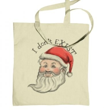 Santa does not exist tote bag