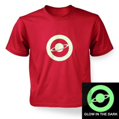 Saturn Circle Glow In The Dark kids' t-shirt