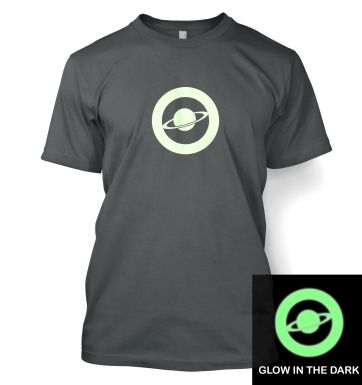 Saturn Circle Glow In The Dark t-shirt