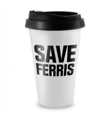 Save Ferris travel latte mug
