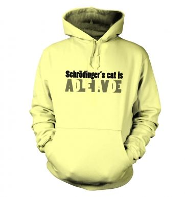 Schrodingers Cat Is Dead And Alive hoodie