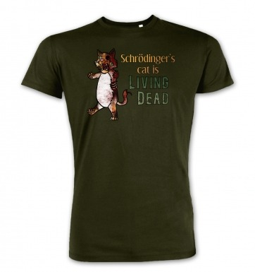 Schrödinger's Cat Is Living Dead premium t-shirt