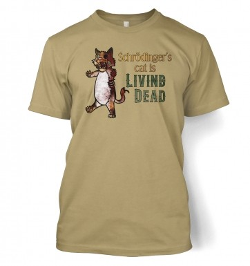 Schrödinger's Cat Is Living Dead t-shirt