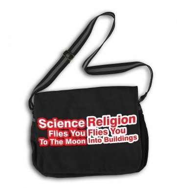 Science Flies You To The Moon messenger bag
