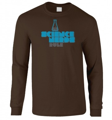Science Nerds Rule long-sleeved t-shirt