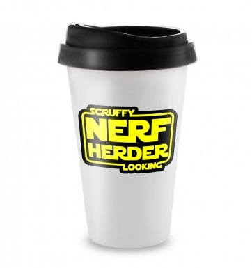 Scruffy Looking Nerf Herder travel latte mug