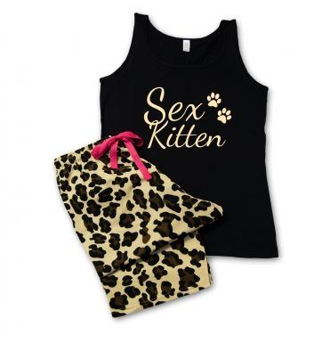 Sex Kitten Leopard Pyjamas 