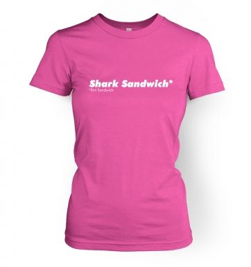 Shark Sandwich  womens t-shirt