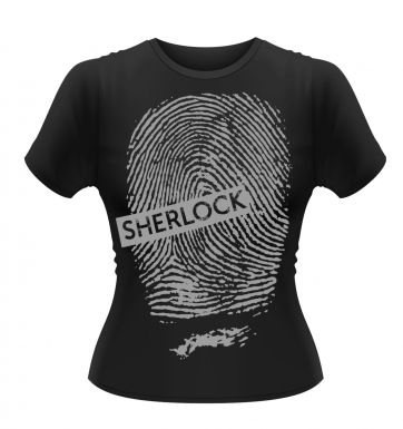 Sherlock Black Fingerprint women's t-shirt - Official