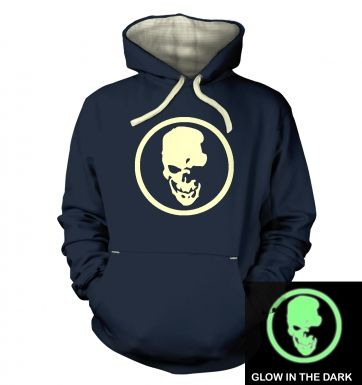 Shinigami Skull (glow in the dark) premium hoodie