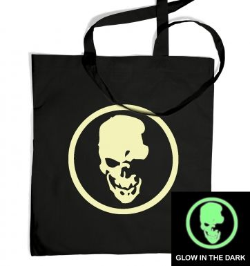 Shinigami Skull (glow in the dark) tote bag