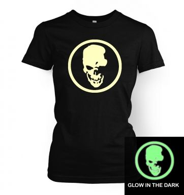 Shinigami Skull (glow in the dark) women's t-shirt