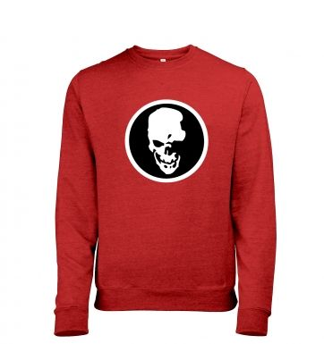 Shinigami Skull Mens Heather Sweatshirt