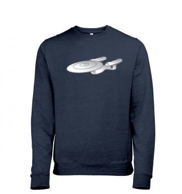 Silver Starship Enterprise heather sweatshirt