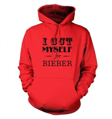 slogan I cut myself for bieber s hoodie