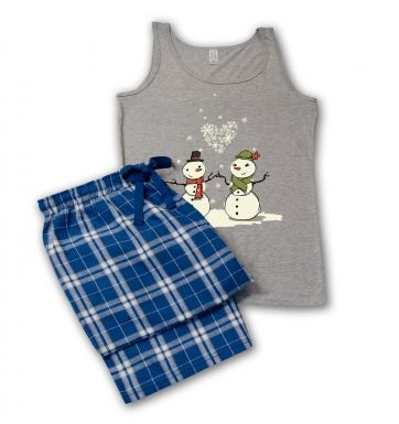 Snowmen in Love pyjamas (women's)