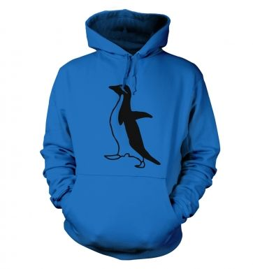 Socially awkward penguin unisex college hoodie