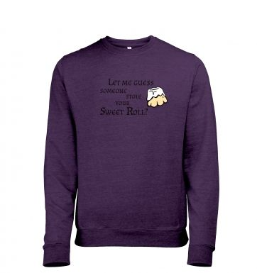 Someone Stole Your Sweetroll men's heather sweatshirt