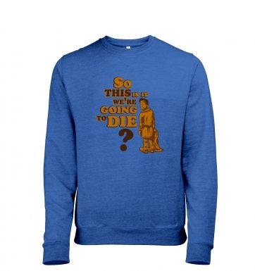 So This Is It men's heather sweatshirt