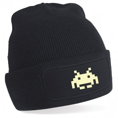 Space Invader Alien (Glow in the Dark) Beanie