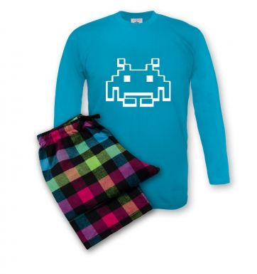 Alien Invader Pixel Art men's pyjamas
